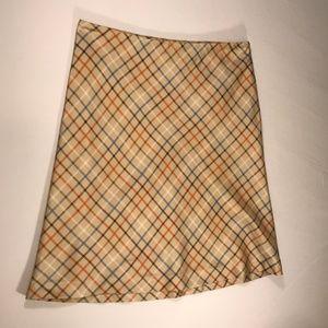 Vineyard Vines Plaid Silk Skirt Women 8
